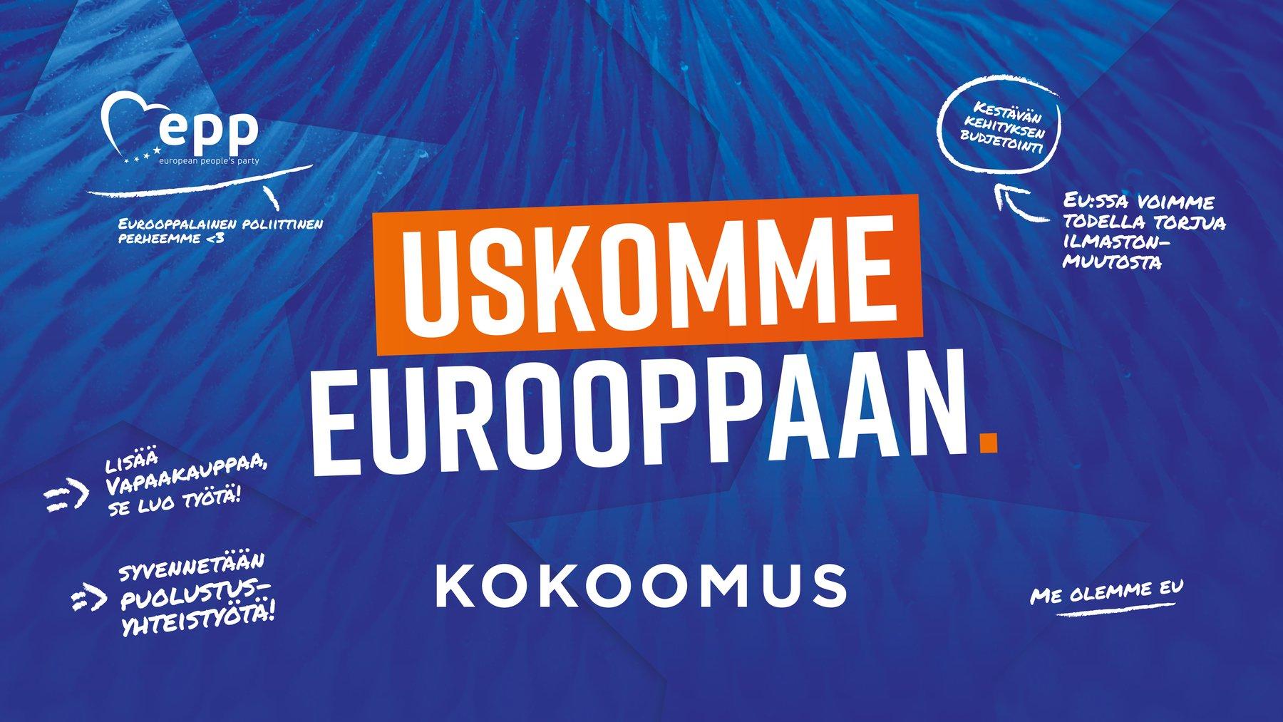 Kokoomus Eurovaaliehdokkaat 2021